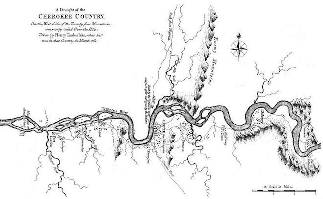 Map of Cherokee Country from Wikipedia Commons